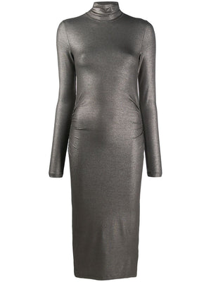 Majestic Filatures Metallic Effect Roll Neck Dress Timeless Martha's Vineyard