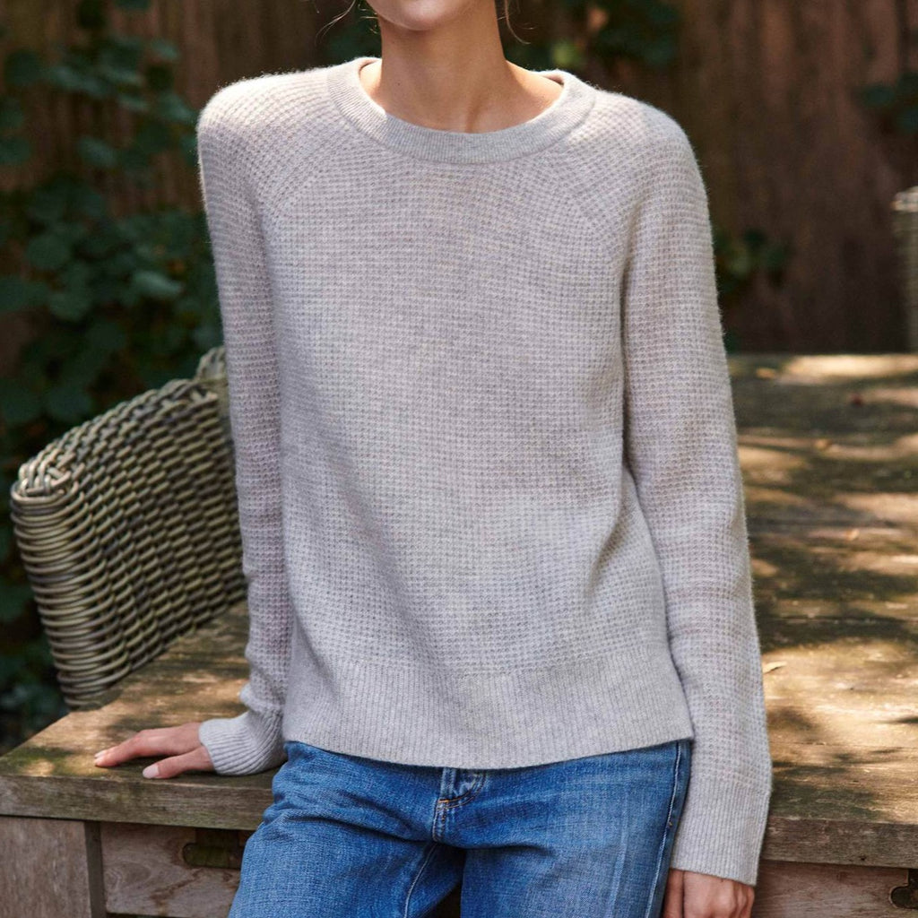 White + Warren Thermal Sweatshirt Timeless Martha's Vineyard