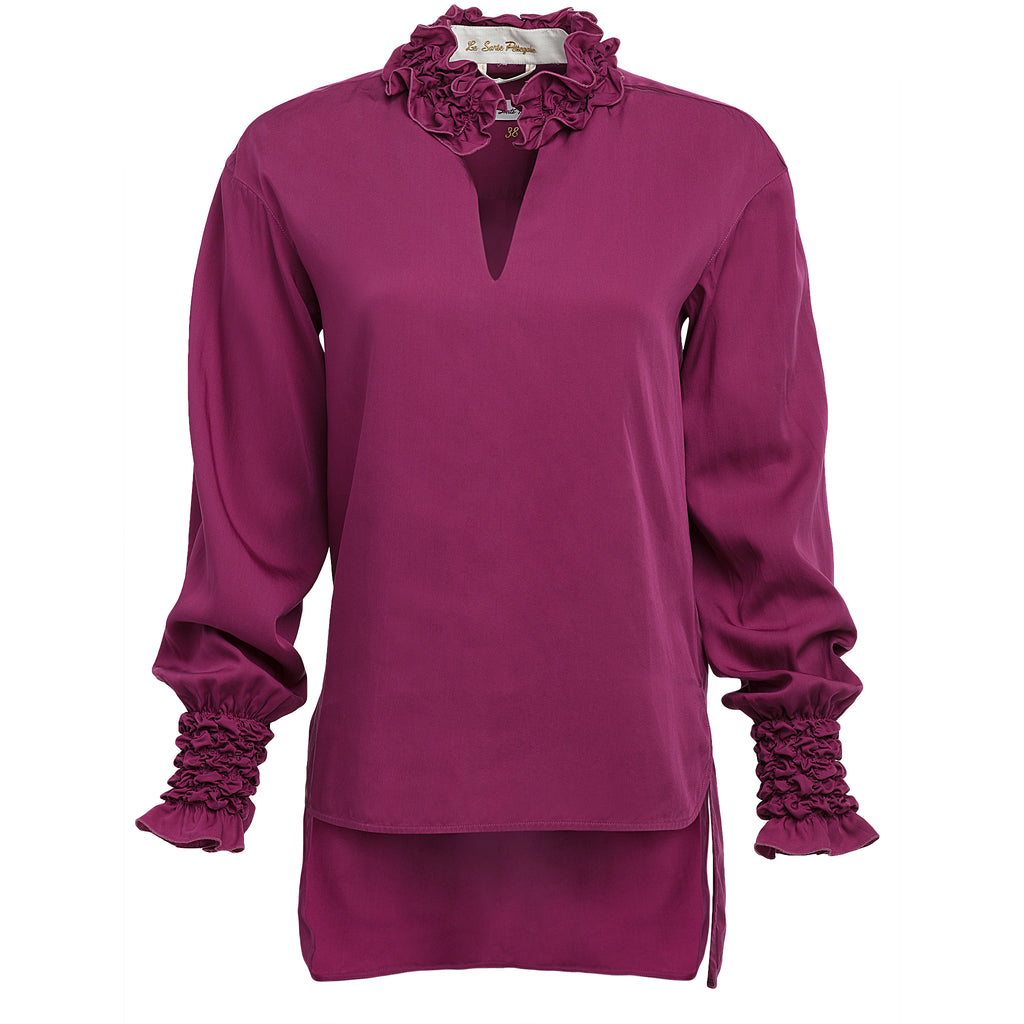 Le Sarte Pettegole Ruched Blouse Timeless Martha's Vineyard