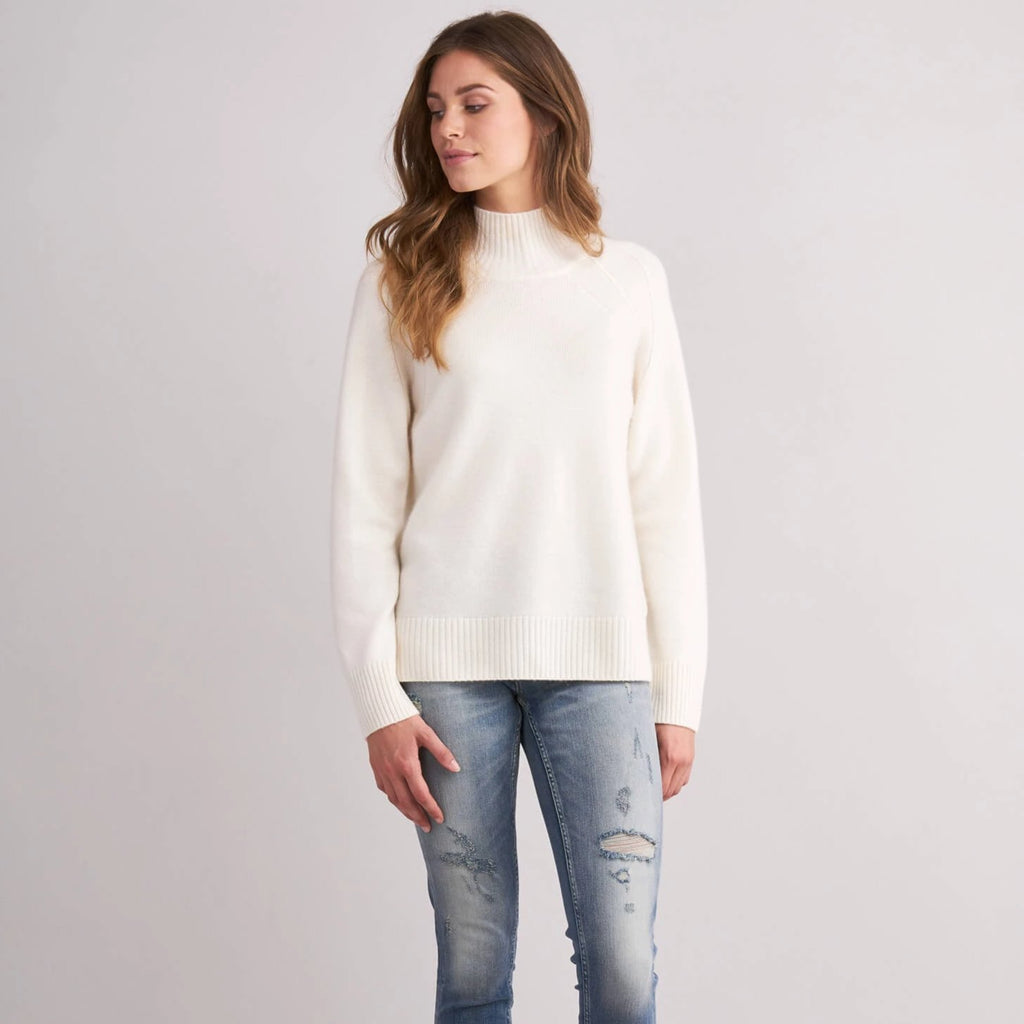 Repeat Sweater with Stand-Up Collar Timeless Martha's Vineyard