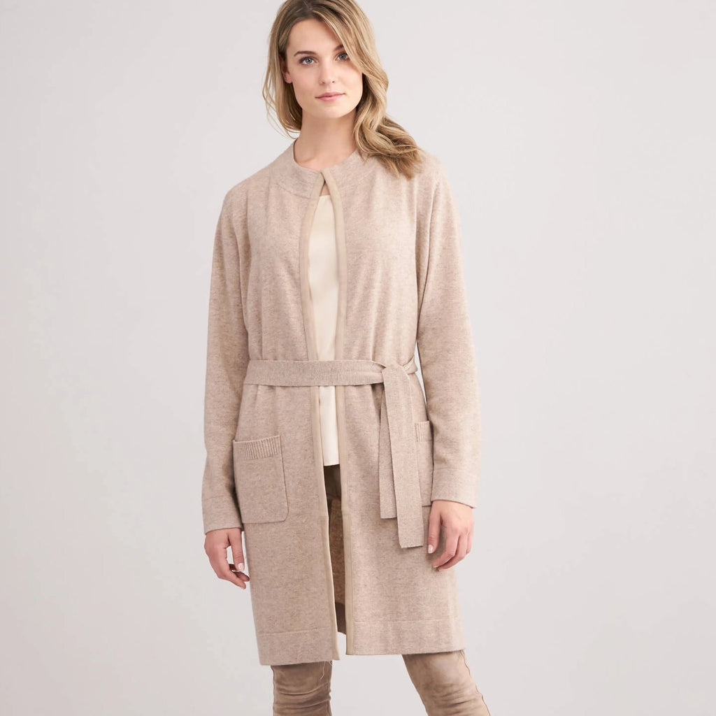 Repeat Cashmere Cardigan With Belt Timeless Martha's Vineyard