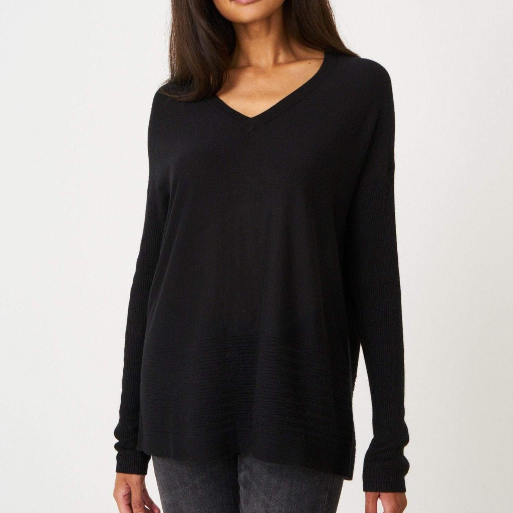 Repeat Bamboo V-Neck Sweater Timeless Martha's Vineyard