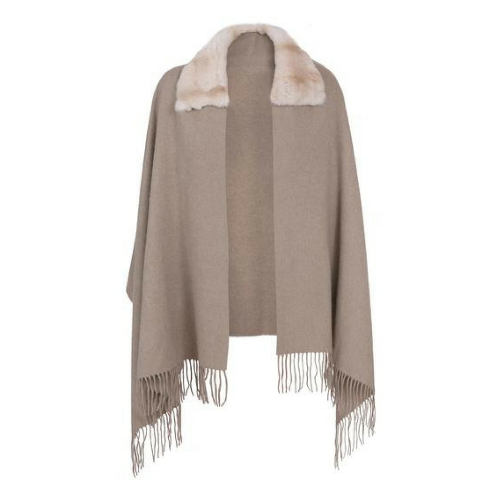 Gaynor Cashmere and Fur Shawl