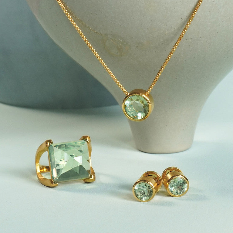 Plaza Ring - Green Amethyst