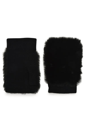 Carolina Amato Fingerless Fur Gloves Mittens Timeless Martha's Vineyard