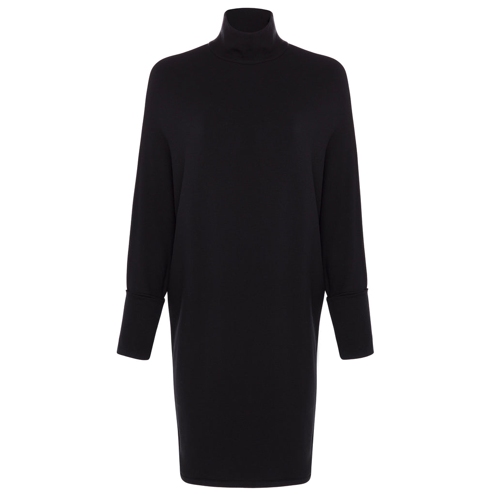 Majestic Filatures French Terry Turtleneck Dress w/ Wide Sleeve Timeless Martha's Vineyard