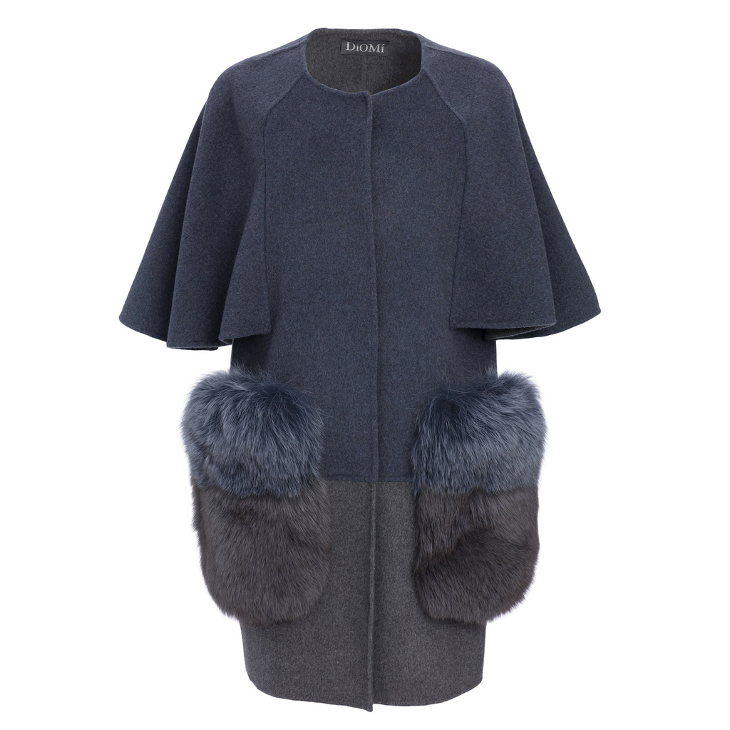 Diomi Fox Fur Caplet Timeless Martha's Vineyard