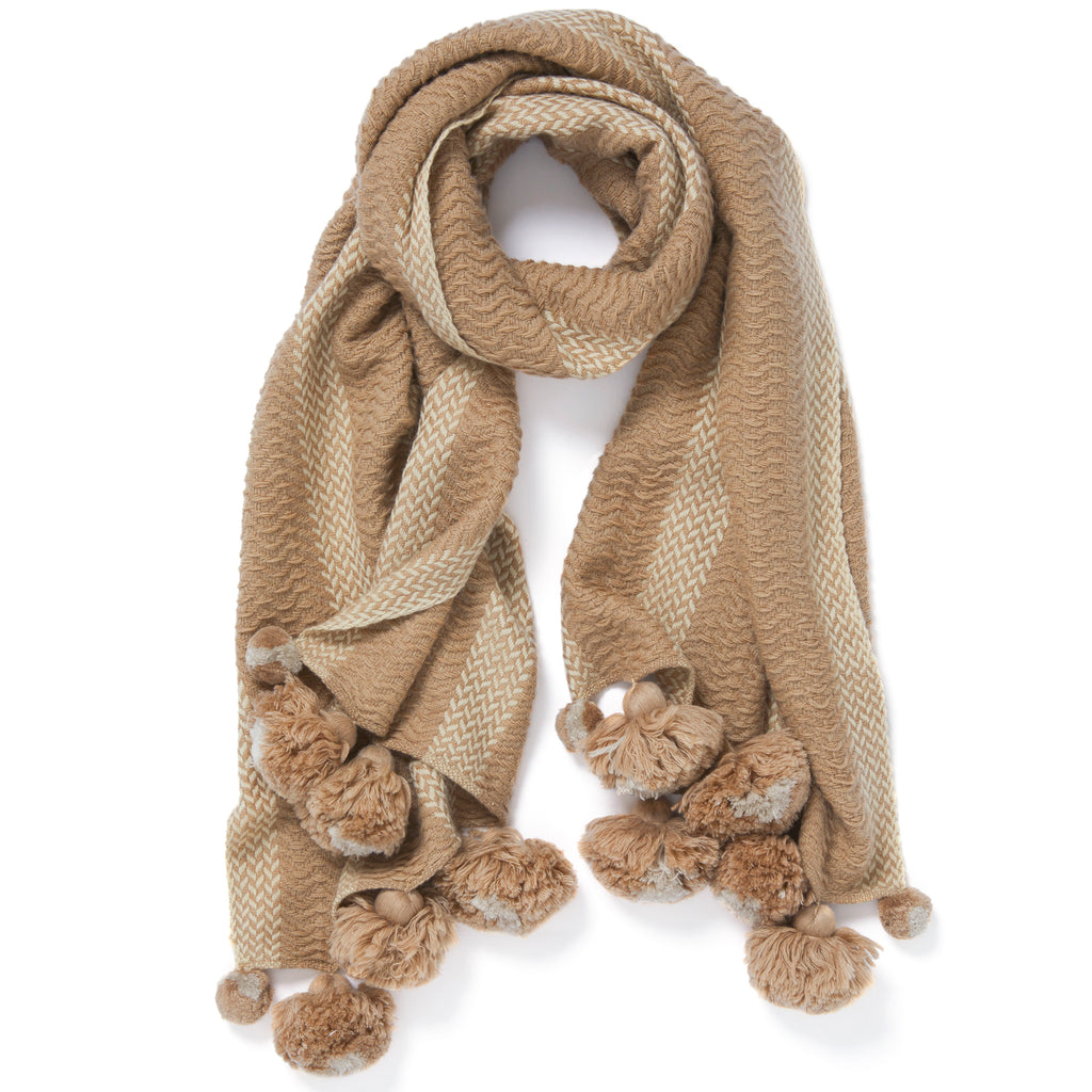 Jane Carr Pom-Pom Scarf Timeless Martha's Vineyard
