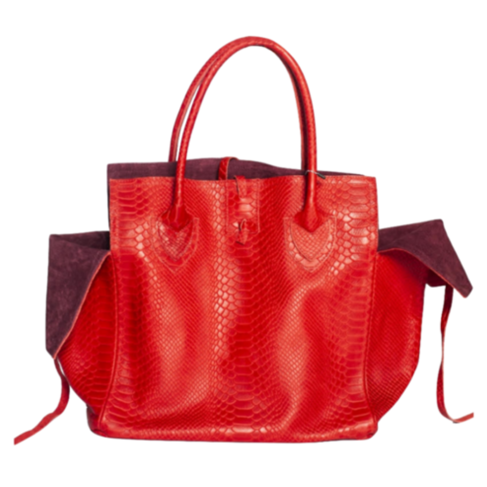 LET & HER Embossed Python Bag Timeless Martha's Vineyard