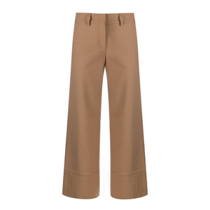 Piazza Sempione Camel Wide Leg Pants Timeless Martha's Vineyard