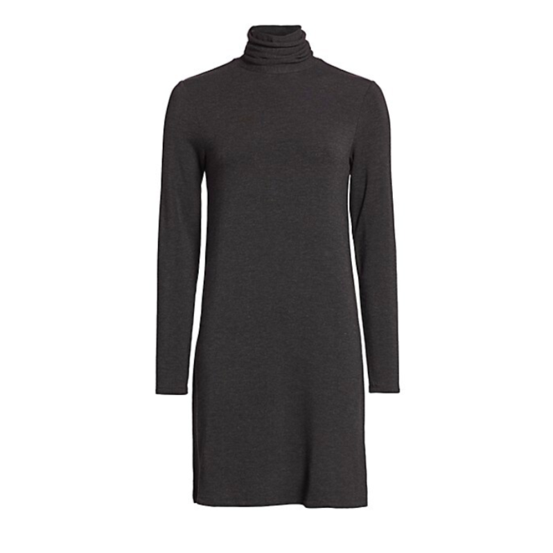 Majestic Filatures French Terry Turtle Neck Dress Timeless Martha's Vineyard