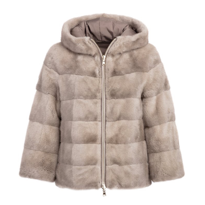 Mink Jacket With Hood - Timeless