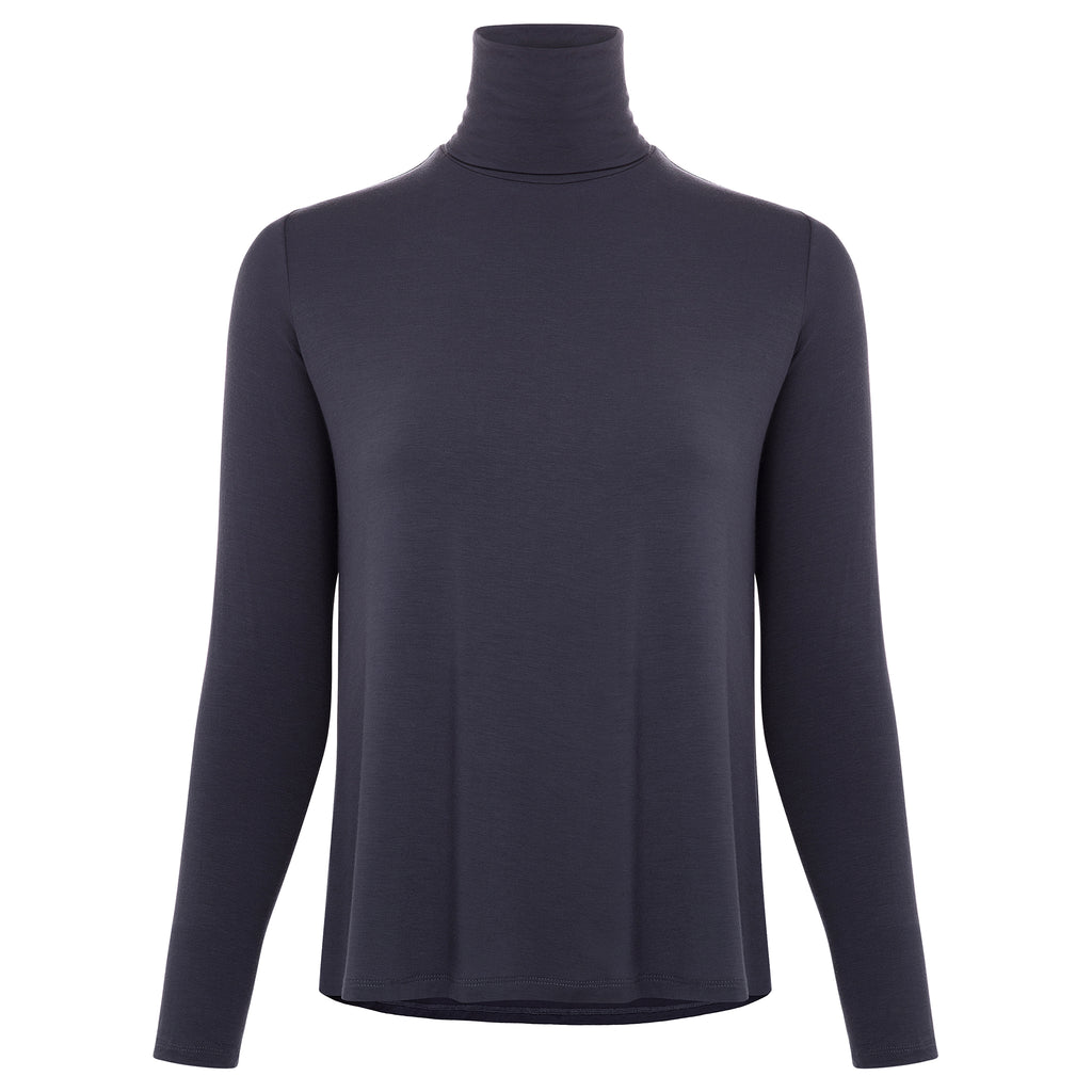 Soft Touch Back Pleat Turtleneck - More Colors