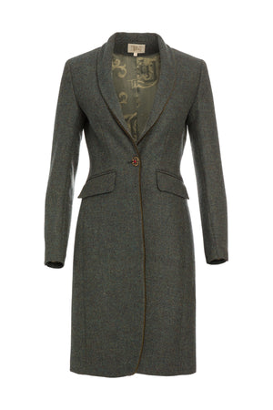 T.ba Life Herringbone Tweed Long Jacket Timeless Martha's Vineyard
