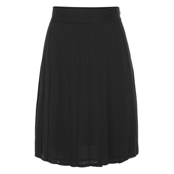 Edward Achour Black Pleated Skirt Timeless Martha's Vineyard