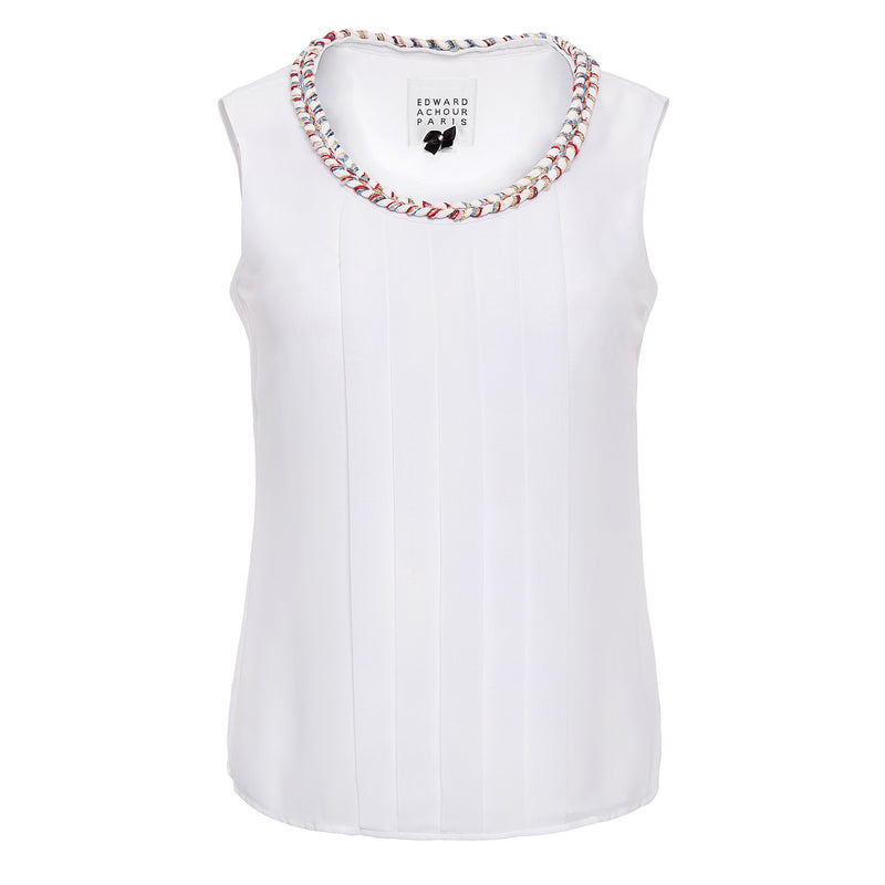 Edward Achour Pleated Tank Timeless Martha's Vineyard