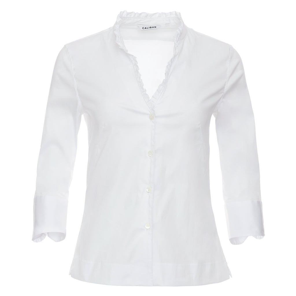 Caliban Ruffle Edge Blouse at Timeless Martha's Vineyard