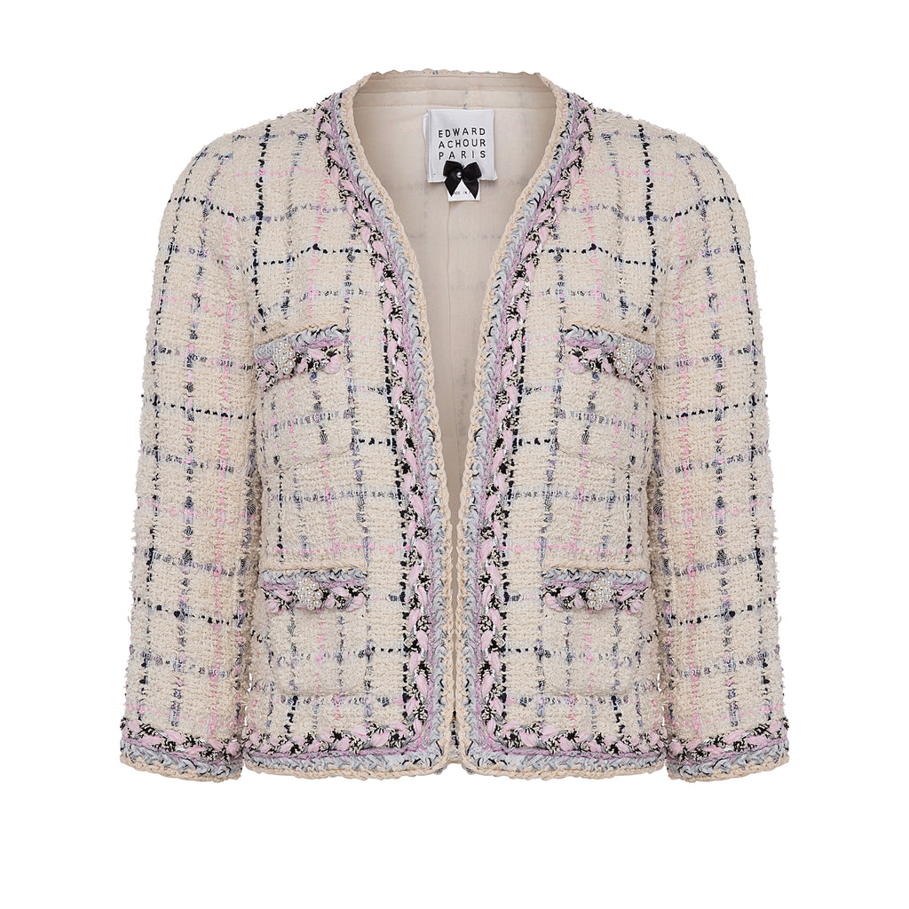 Multicolored Bouclé Tweed Jacket
