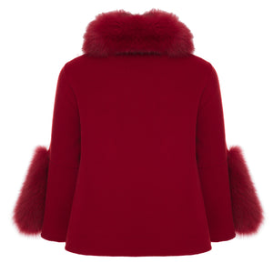 Diomi Fox Fur Short Jacket Timeless Martha's Vineyard