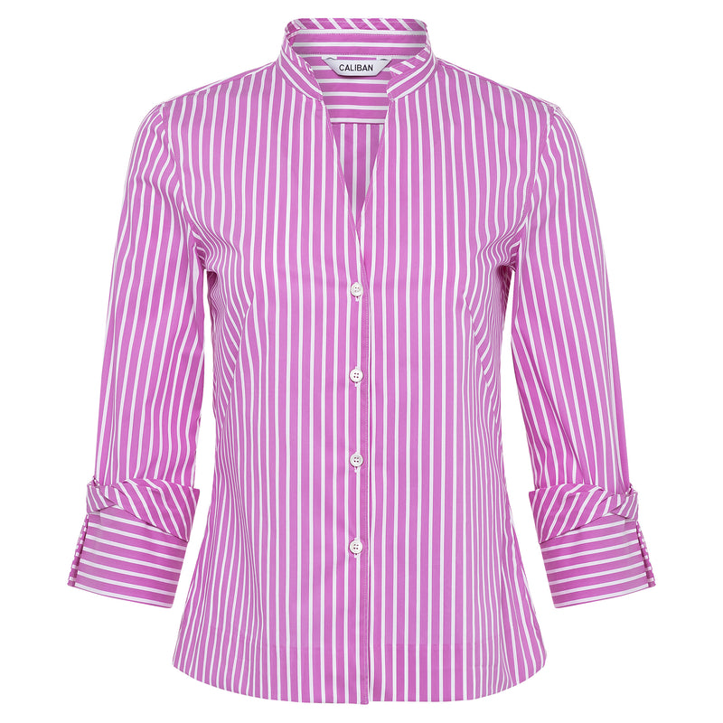 Caliban Pink and White Striped Blouse Timeless Martha's Vineyard