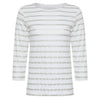 Majestic Filatures Linen Metallic Stripe Top Timeless Martha's Vineyard