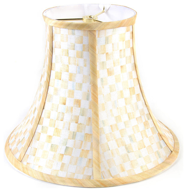 Parchment Check Lamp Shade