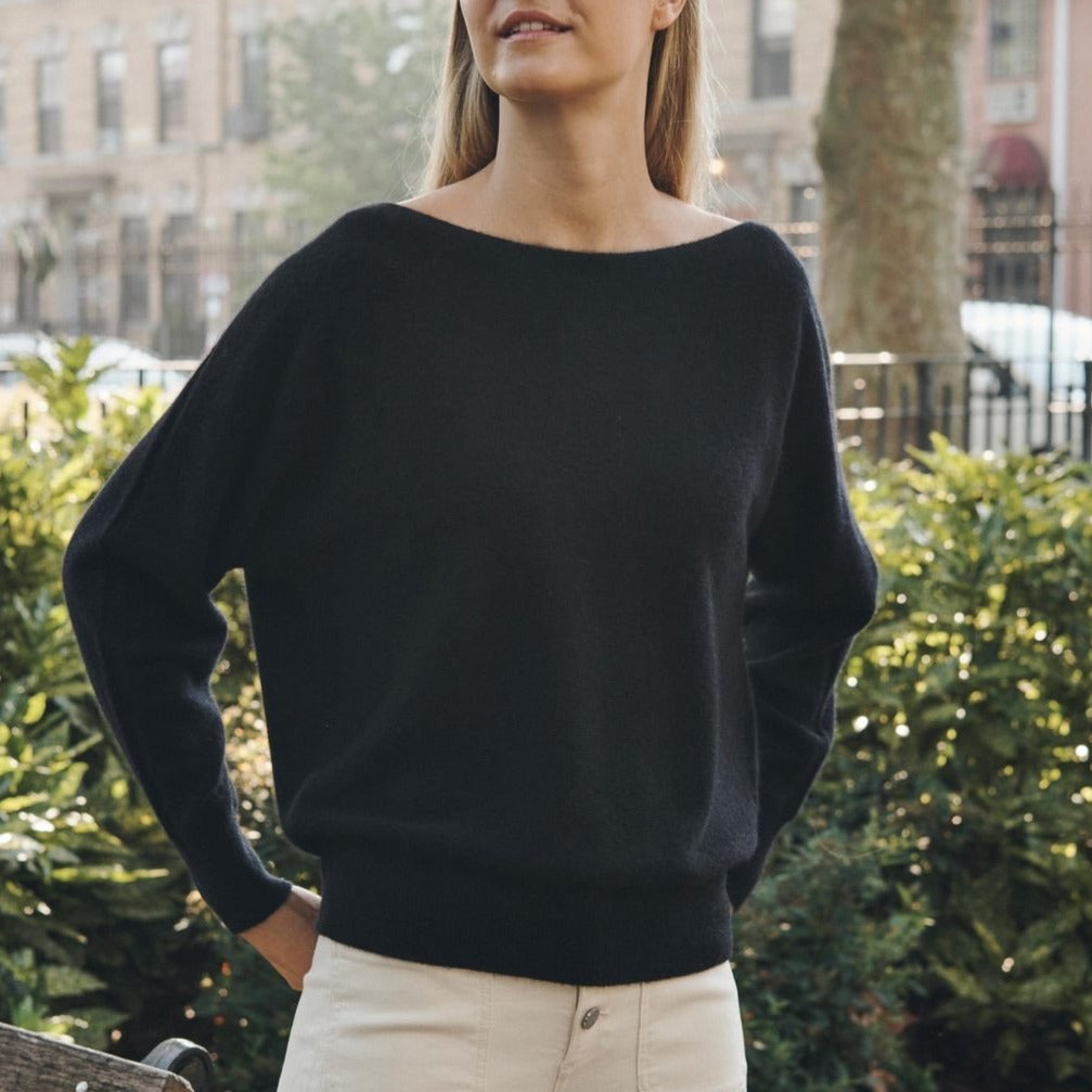 White + Warren Off Shoulder Crew Neck Timeless Martha's Vineyard