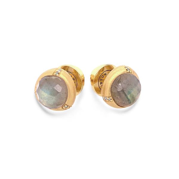 Bamboo Gemstone Studs - More Colors Available