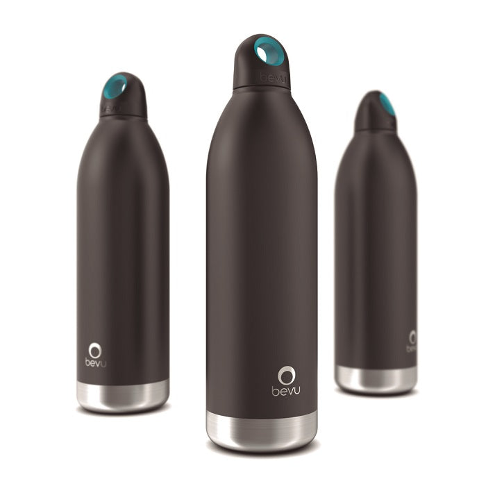 Osixstore Botella, Térmica, Bevu®, Bevu, Botellines 100% libre de BPA, BPA Free, Termo, Thermo Bottle Water Vacuun Insulated Hydration Healthy 48 Horas Frio, 8 Horas Caliente, Resistente, Acero Inoxidable, Doble Pared, Cobre, No Suda, Capacidad 25oz, Capacidad 750ml, Cierre Hermético, Sello Hipoalergénico, Reutilizable Negro, Negra Black BV750-BLCK.