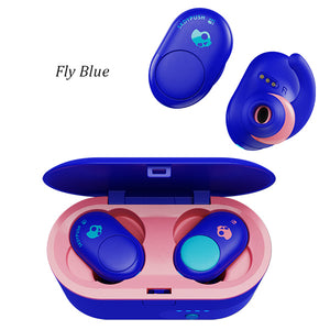 Headphones - Audífonos Bluetooth Skullcandy Push Truly Color Blue/Pink. - SKULLCANDY - OsixStore