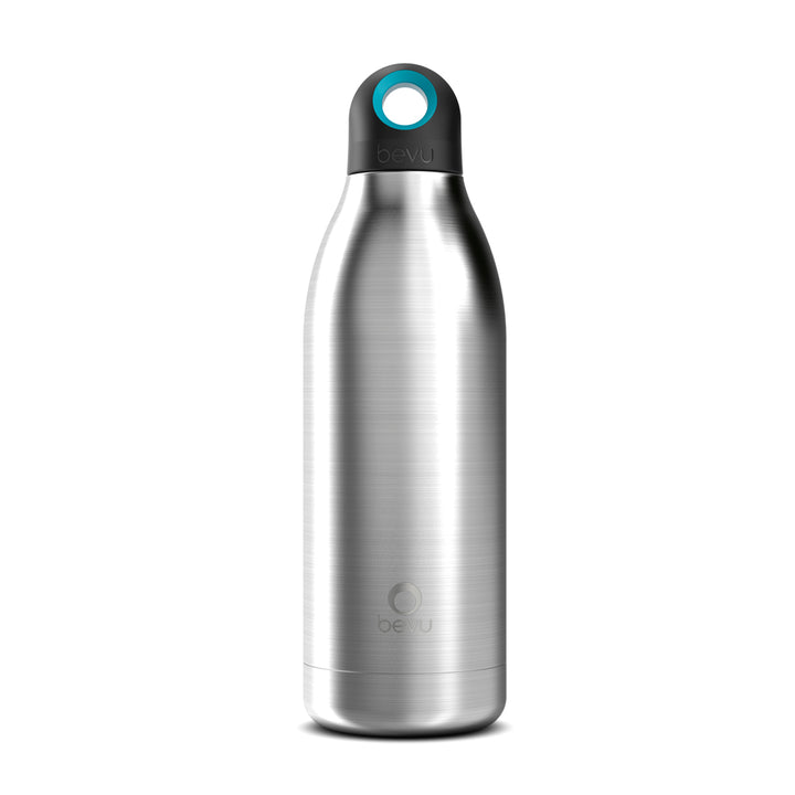 Osixstore Botella, Térmica, Bevu®, Bevu, Botellines 100% libre de BPA, BPA Free, Termo, Thermo Bottle Water Vacuun Insulated Hydration Healthy 48 Horas Frio, 8 Horas Caliente, Resistente, Acero Inoxidable, Doble Pared, Cobre, No Suda, Capacidad 15oz, Capacidad 450ml, Cierre Hermético, Sello Hipoalergénico, Reutilizable Steel BV450-STL.