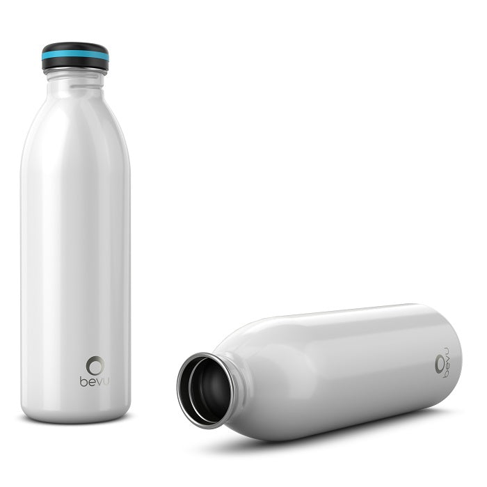 Osixstore Bevu® ONE Botella Pared Simple Black 750ml / 25oz Botella Acero inoxidable, Una pared, Liviana, Reusable BPA Free, Fácil de llevar, Duradera, No derrama Capacidad 25oz Capacidad 750ml White, Blanco, Blanca BV750-SW-WHT.
