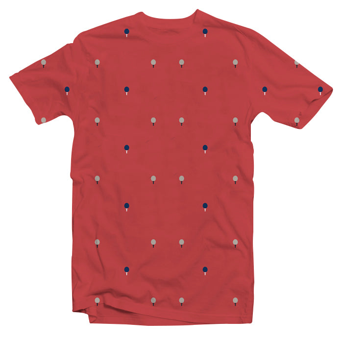 T-shirt OsixWear, Rounded Edges Red