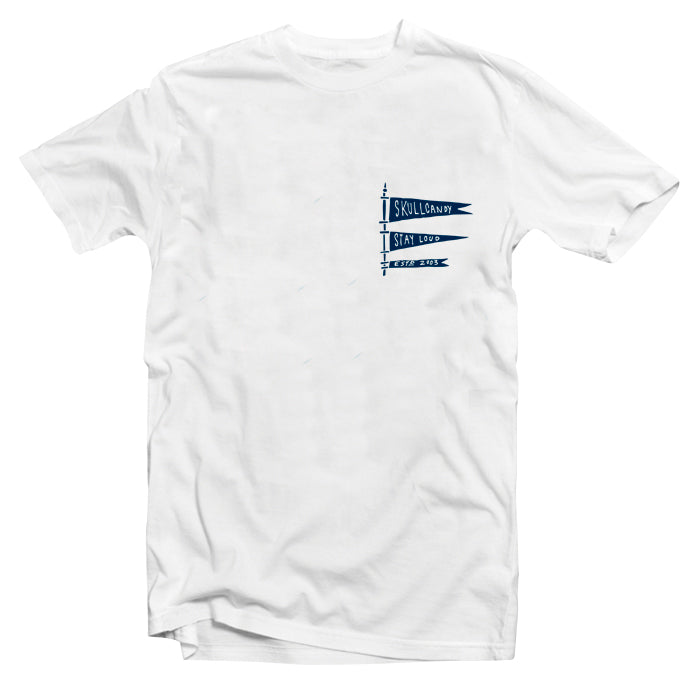 T Shirt Skullcandy Stayloud Flag White