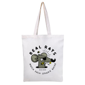 Accesories - Bolsos Tote Bags Bargain Canvas, modelo Real Rats. - WIZZ - OsixStore