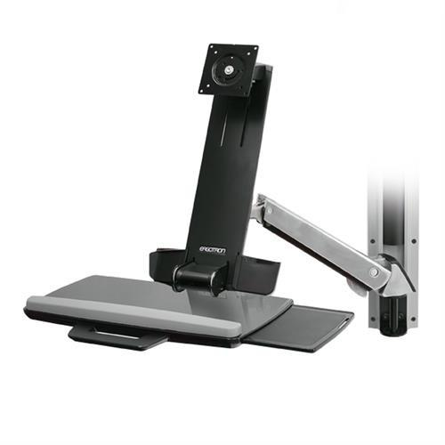 Ergotron StyleView® Sit-Stand Combo System - Stretch Desks - Height Adjustable Standing Desk