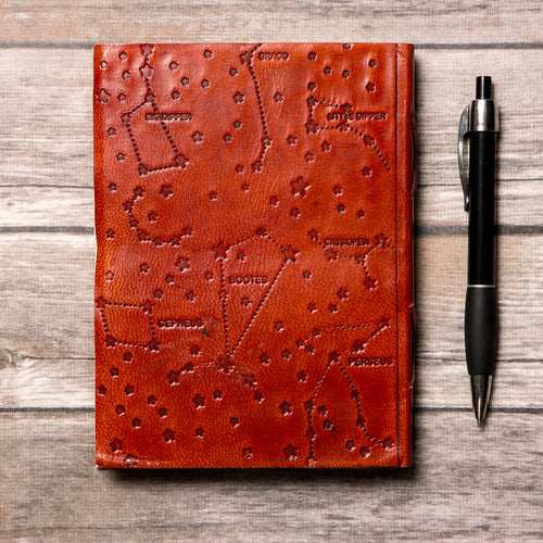 Libra Zodiac Handmade Leather Journal