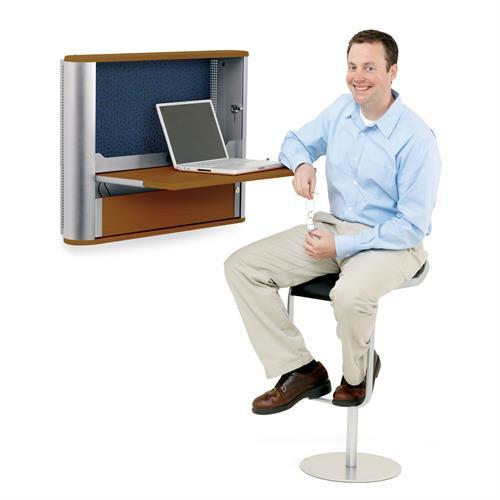 Ergotron eNook­®, Wall Desk Workstation - Stretch Desks - Height Adjustable Standing Desk