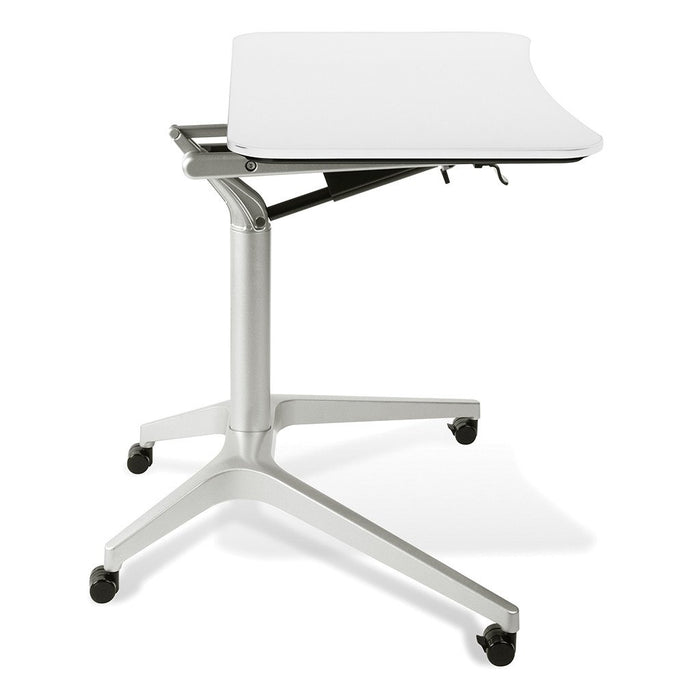 Unique Furniture Workpad Stand Up Height Adjustable Desk with White Top - Stretch Desks - Height Adjustable Standing Desk
