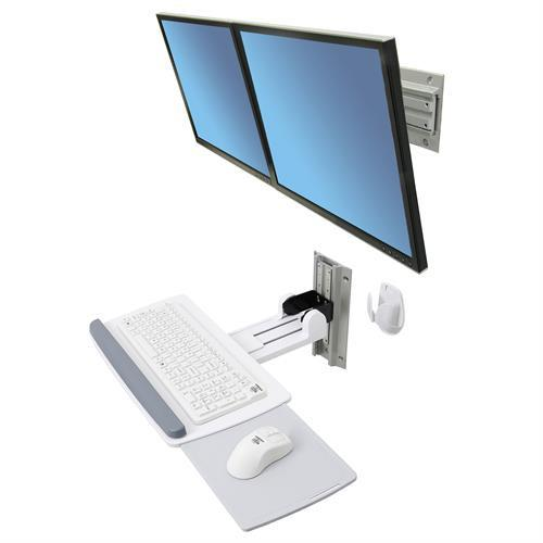 Ergotron Neo-Flex® Dual Monitor Wall Mount - Stretch Desks - Height Adjustable Standing Desk