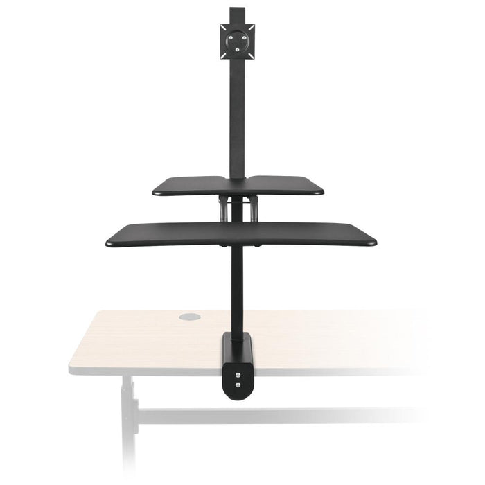 Up-Rite Desk Mounted Sit and Stand Workstation - Stretch Desks - Height Adjustable Standing Desk