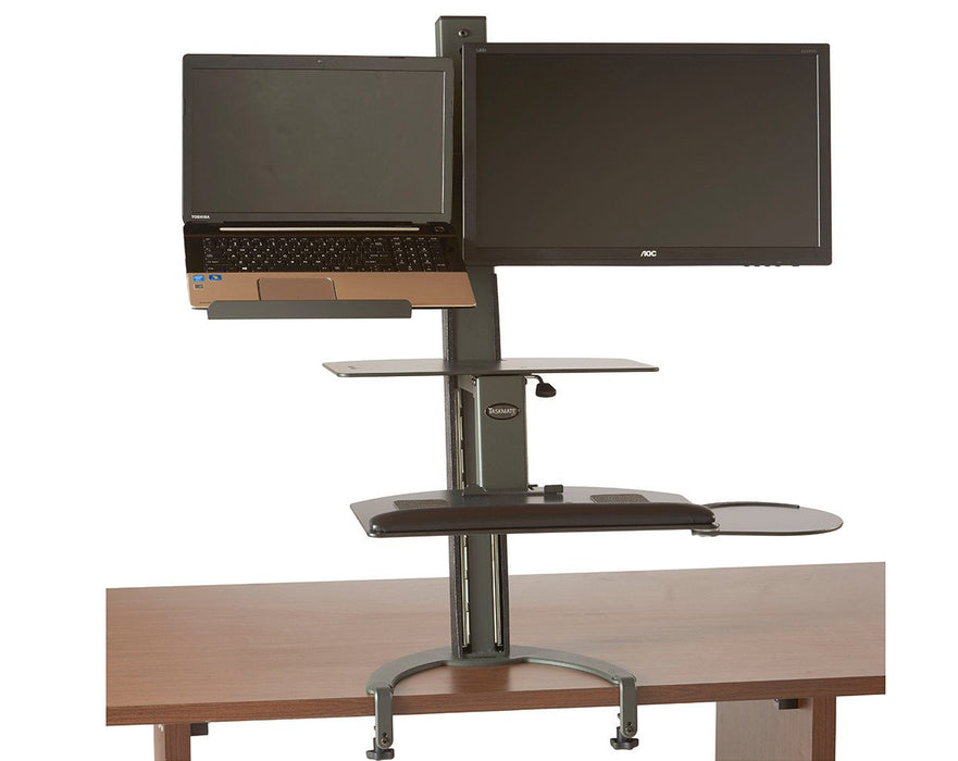 Healthpostures 6360 TaskMate Go Laptop Standing Desk - Stretch Desks - Height Adjustable Standing Desk