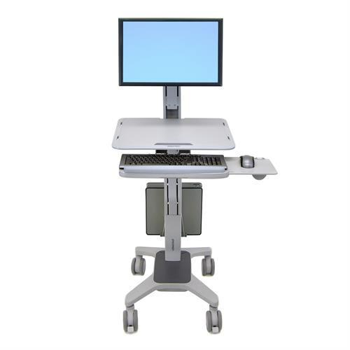Ergotron WorkFit-C, Single LD Sit-Stand Workstation - Stretch Desks - Height Adjustable Standing Desk