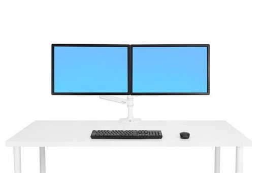 Ergotron LX Dual Stacking Arm (white) - Stretch Desks - Height Adjustable Standing Desk