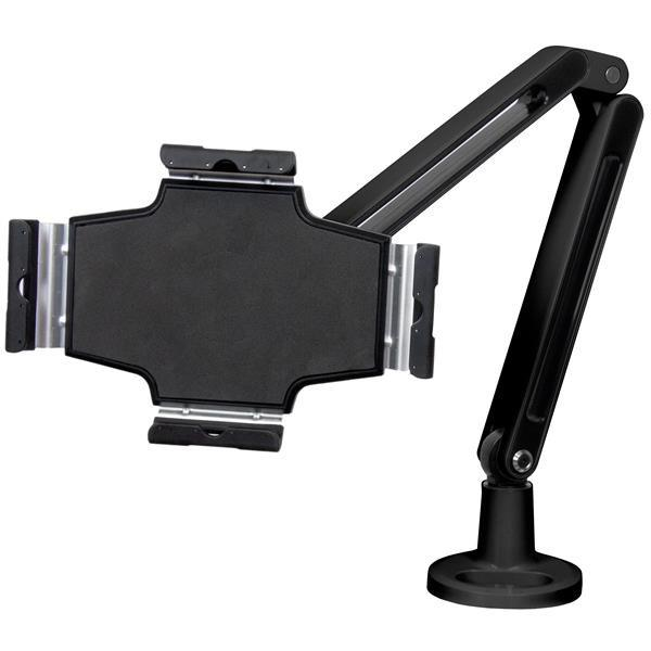 Desk-Mountable Tablet Stand with Articulating Arm for iPad or Android - Stretch Desks - Height Adjustable Standing Desk