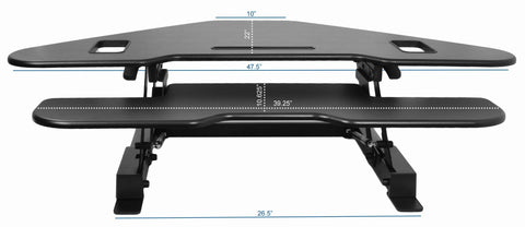 VIVO Corner Height Adjustable Standing Tabletop Desk Monitor - bringown