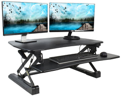 VIVO Deluxe Height Adjustable Standing Tabletop Desk Monitor - bringown