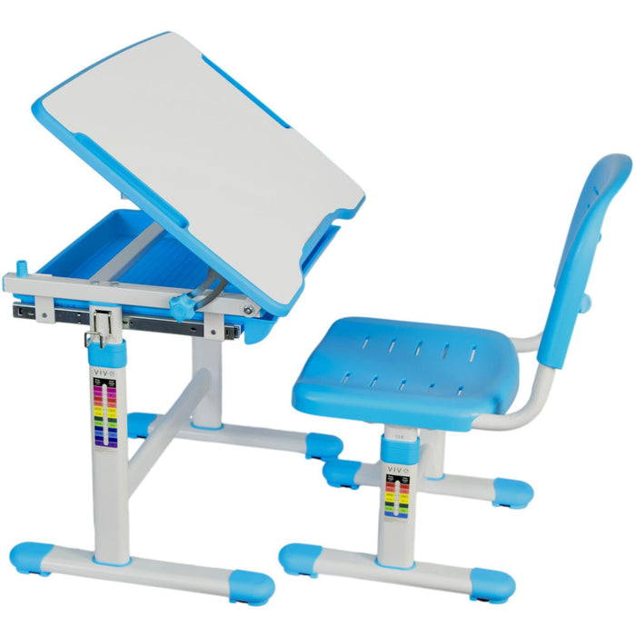 Vivo Height Adjustable Children's Desk with Chair in Blue - Stretch Desks - Height Adjustable Standing Desk