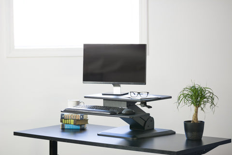 VIVO Height Adjustable Standing Desk Gas Spring Tabletop Riser - bringown