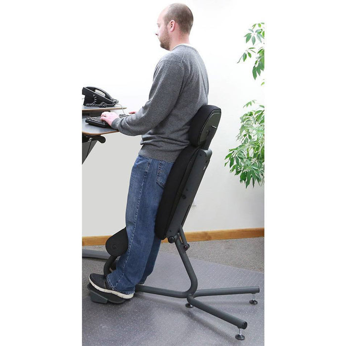 Healthpostures 5050 Stance Move Sit-Stand Chair with Seat Extension - Stretch Desks - Height Adjustable Standing Desk